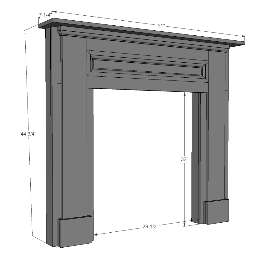 Diy faux fireplace mantel and surround Plans PDF Download Free ...