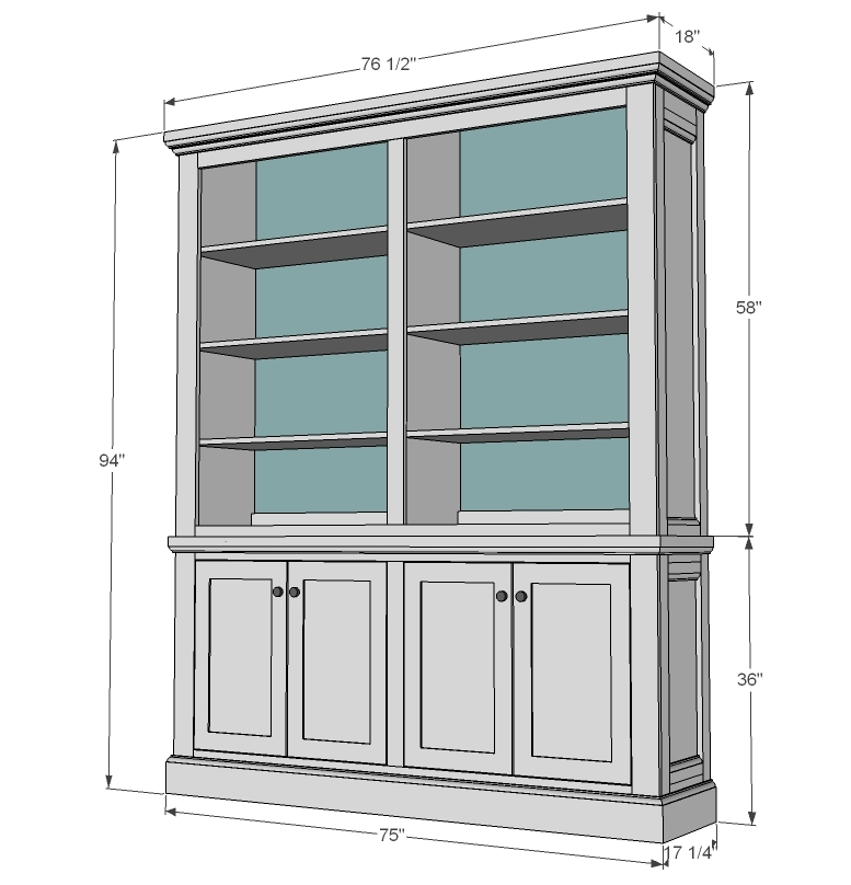 surprising Kitchen Hutch Diy Part - 6: Ana White