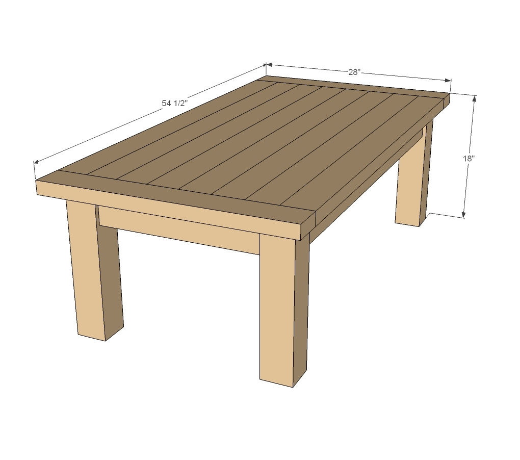Coffee Table Dimensions Standard ana white | updated tryde coffee table - pocket holes - diy projects