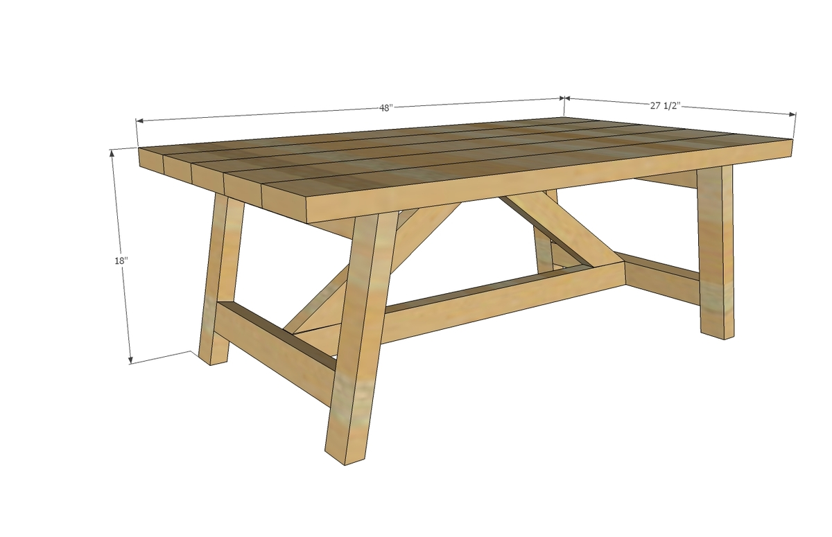 Ana White Truss Coffee Table Diy Projects - Wood-coffee-table-plans