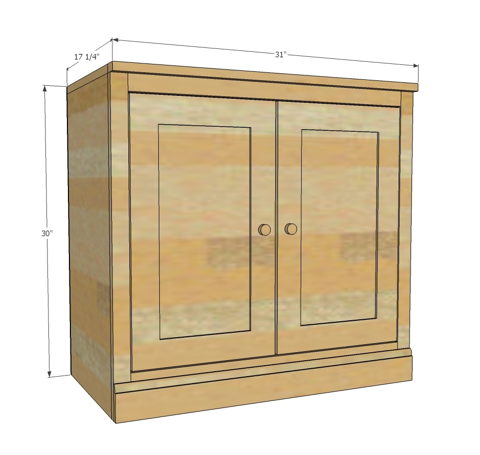 Free Base Cabinet Plans: Smith Media Wall: Side Base Cabinet - DIY Projects