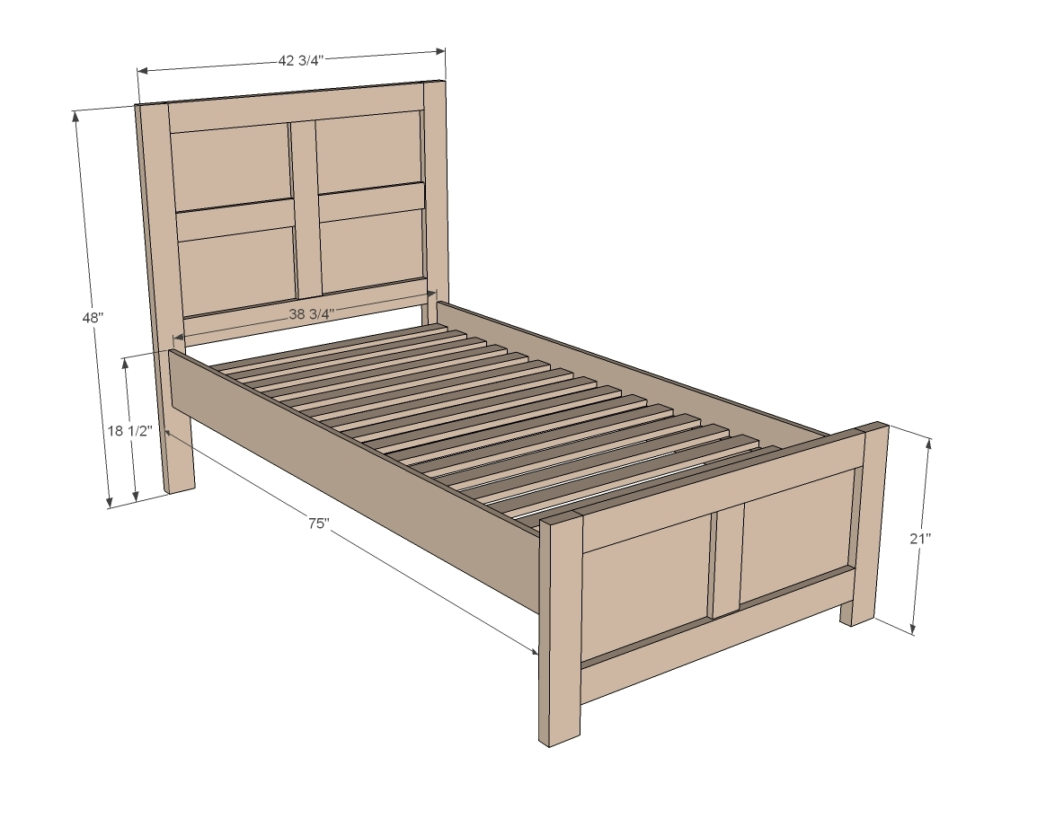 Elegant Emme Twin Bed