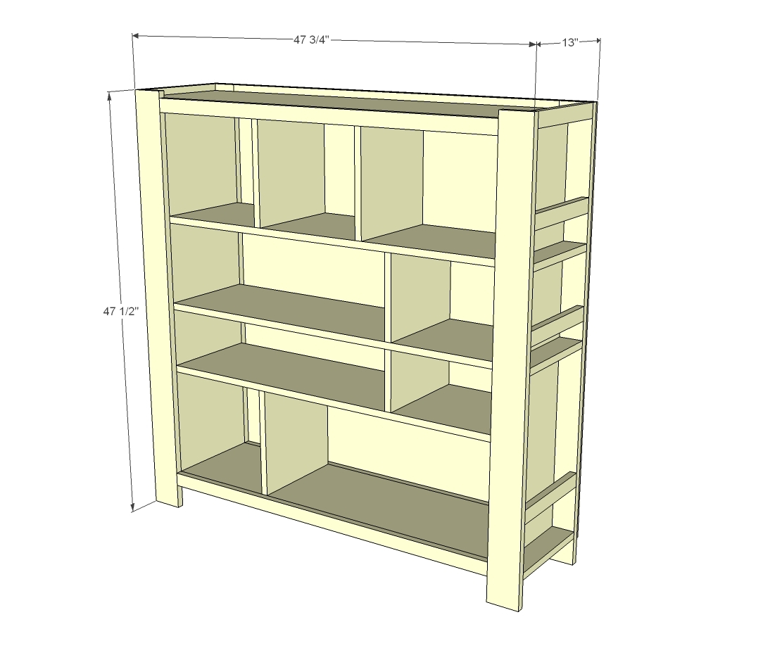 Ana White | Compartment Depot Bookshelf - DIY Projects