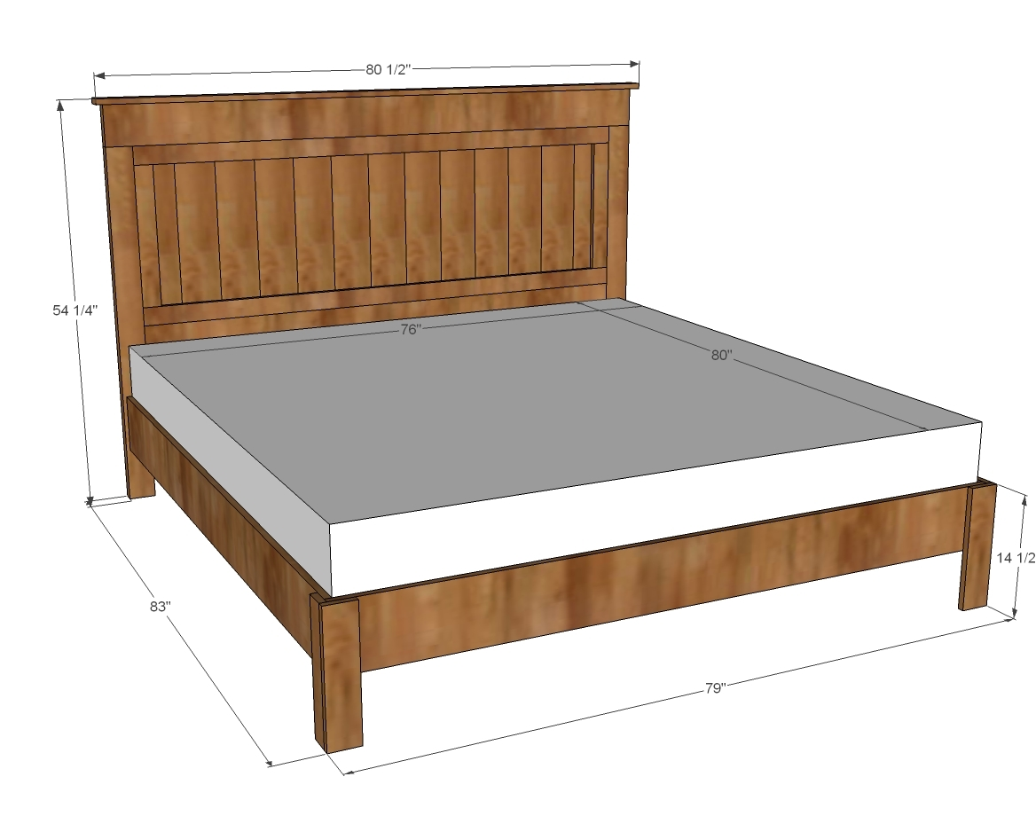 Ana white king size fancy farmhouse bed diy projects for King size bed frame and mattress
