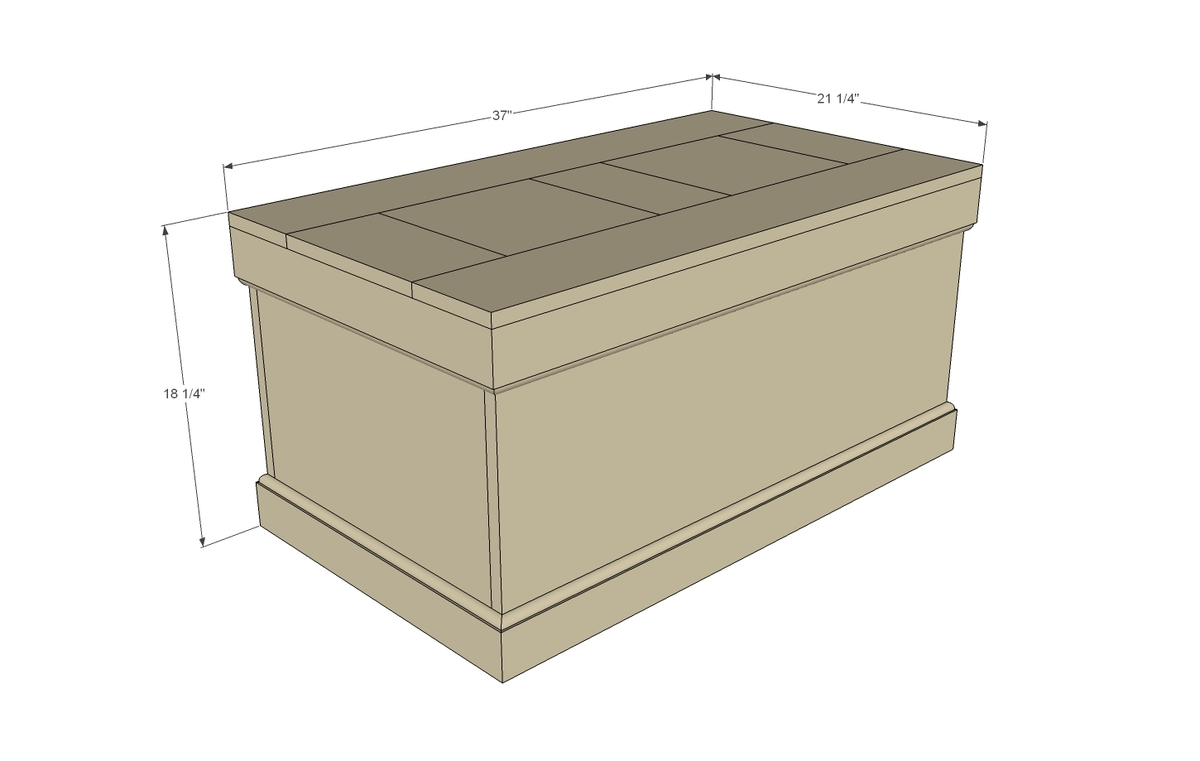 plywood trunk diy project plans dimensions