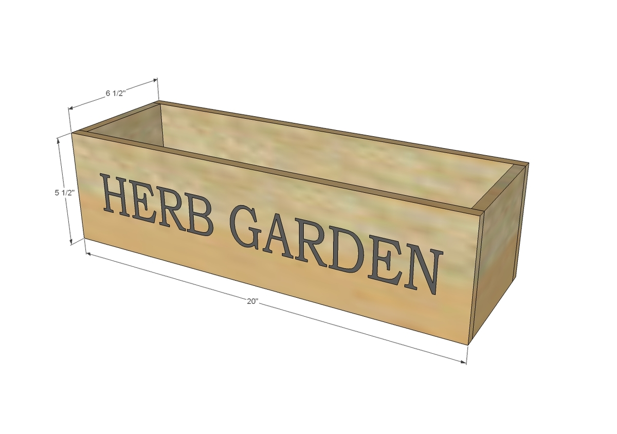 Ana white herb garden planter 2 diy projects for Garden planter plans