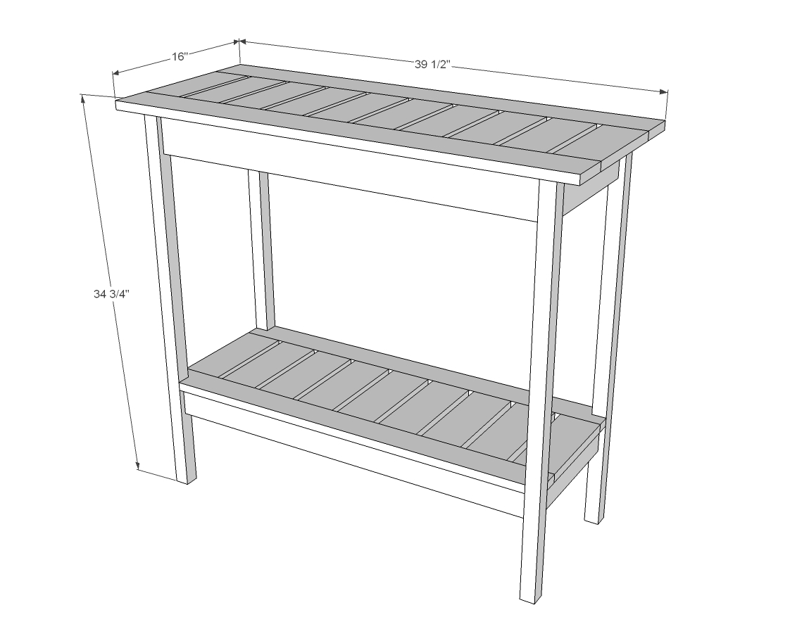 Ana White Stair Baluster Outdoor Console Table Diy