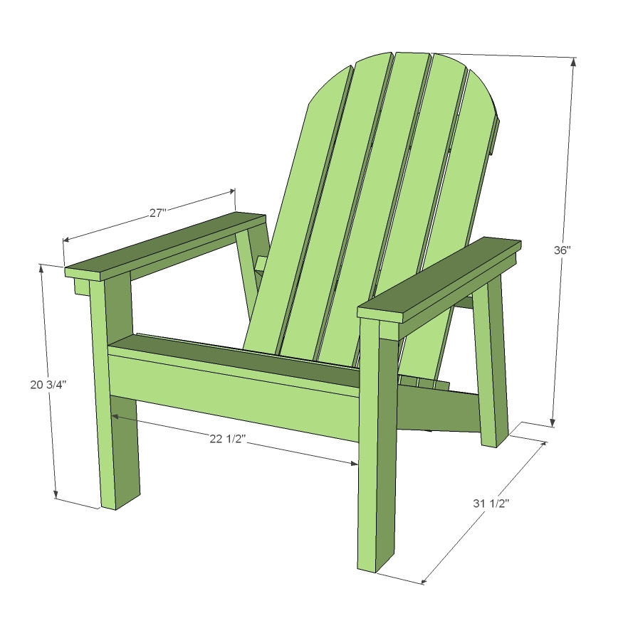 Adirondack Chair Plans Free Easy: 2x4 Adirondack Chair Plans For Home Depot DIH