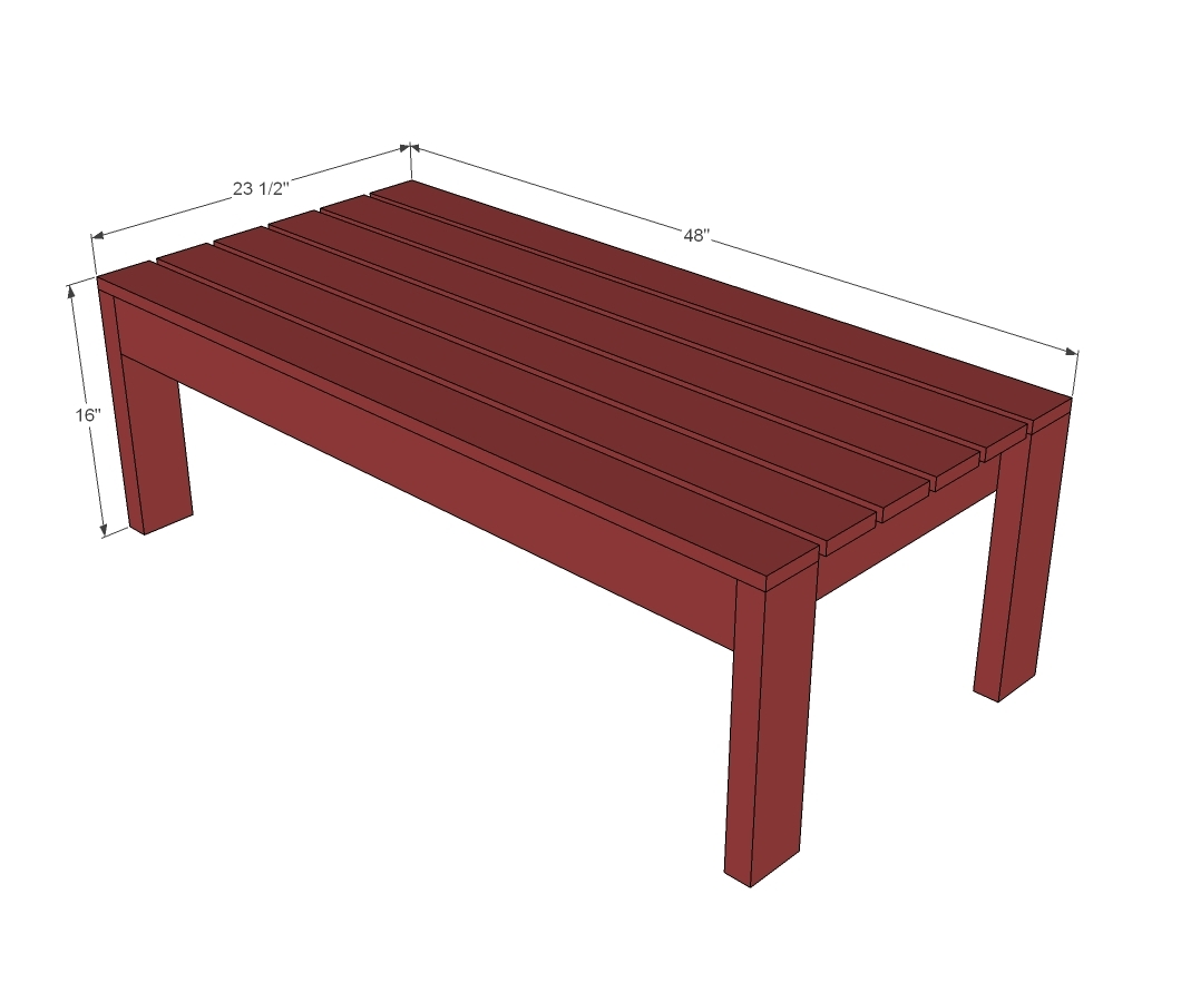 dimensions diagram for outdoor coffee table