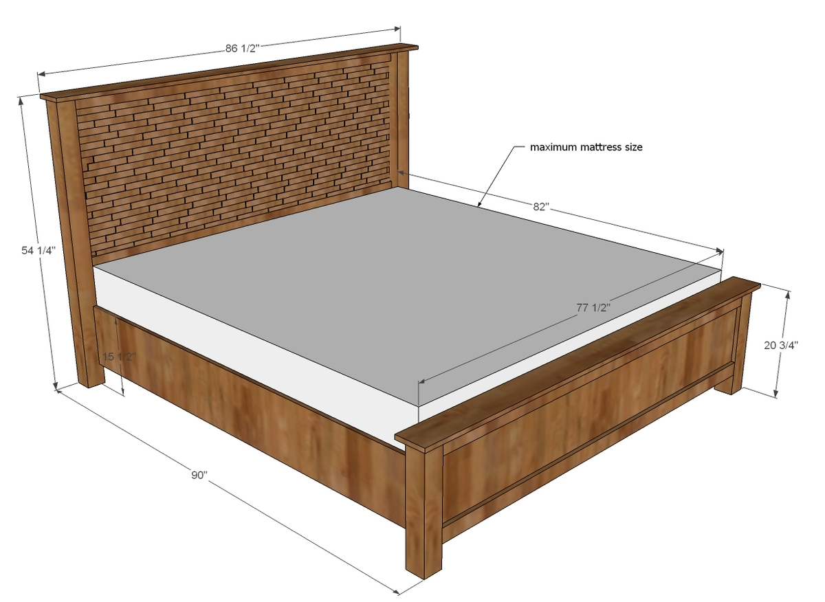 Ideal Dimensions For king size bed mattress