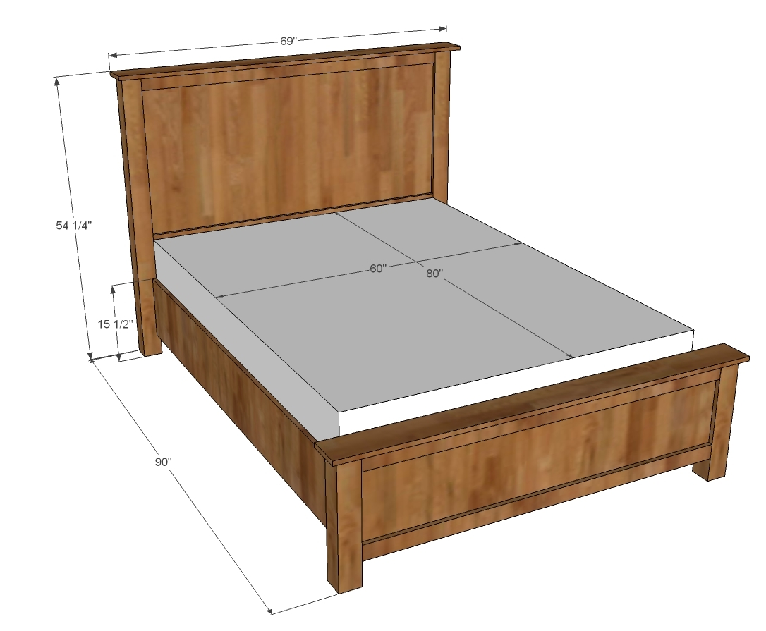 since a few of you asked thought id get you a queen sized plan too - Wood Bed Frames Queen