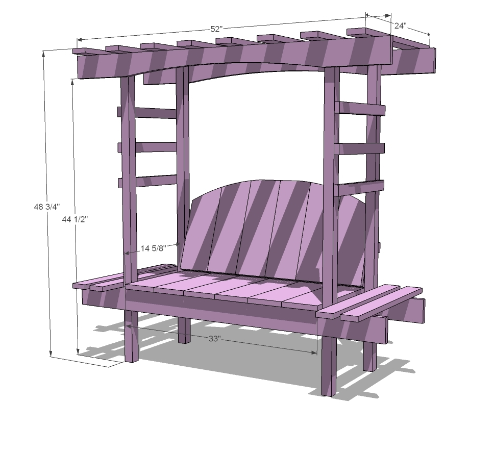 Diy Kids Garden Bench With Arbor Cost You Only 40 The Art In Life