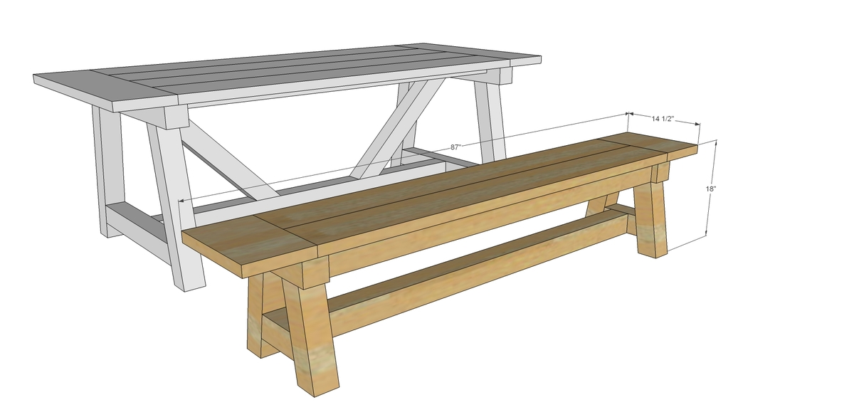 Ana White | 4x4 Truss Benches - DIY Projects