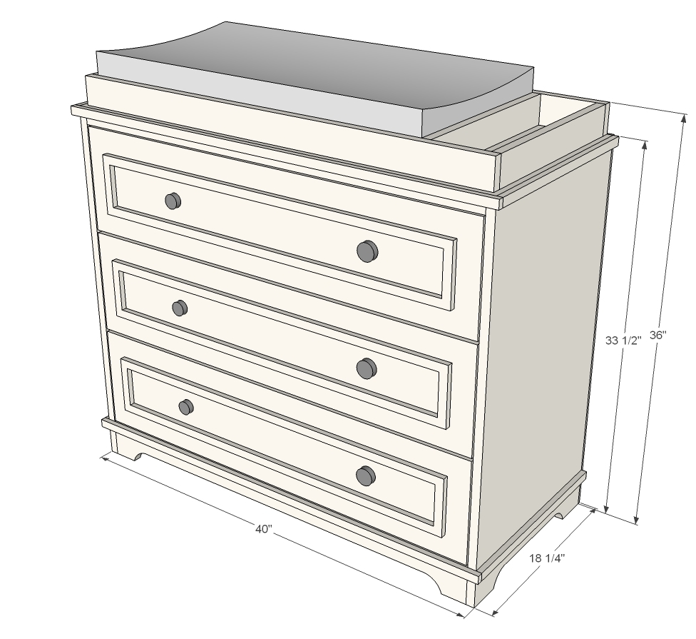 Ana White | Fillman Dresser or Changing Table - DIY Projects