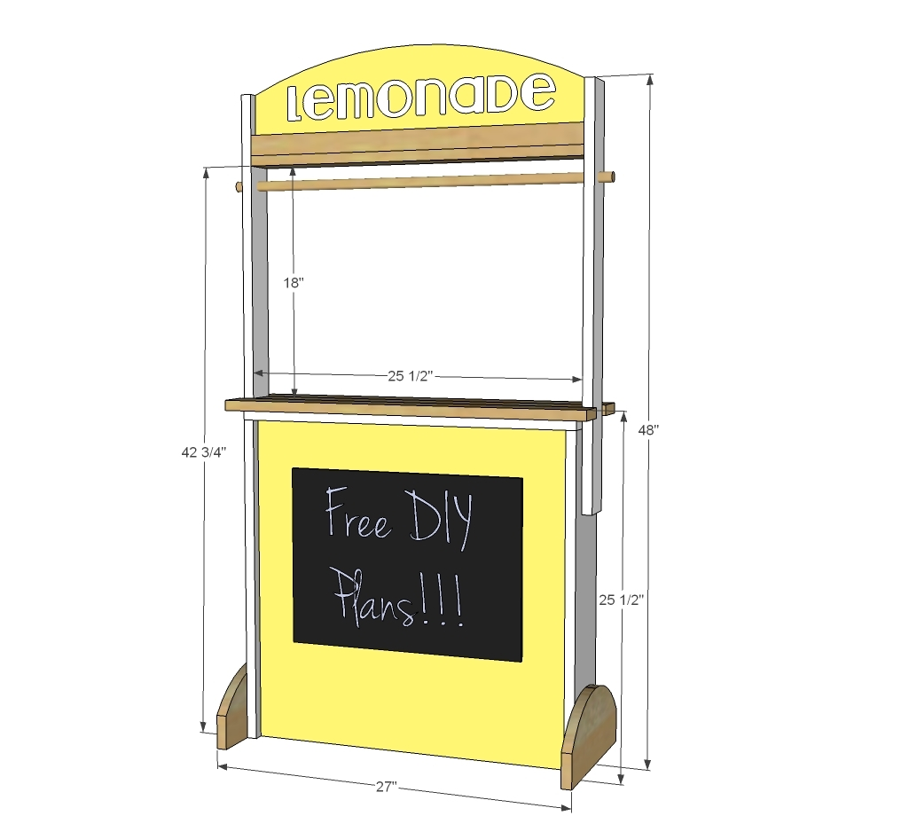 Lemonade+Stand+Plans Changeable Play Stand (Lemonade, Market, Post ...