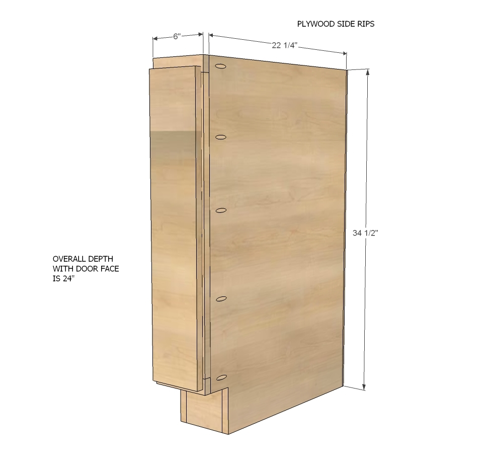 Inch Wide Kitchen Base Cabinet With Filler