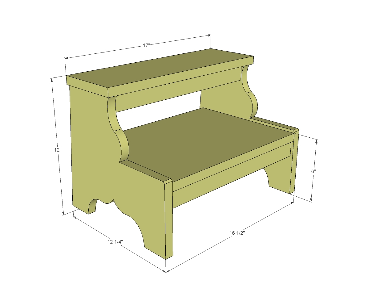 Simple Wood Step Stool Plans Neas Job