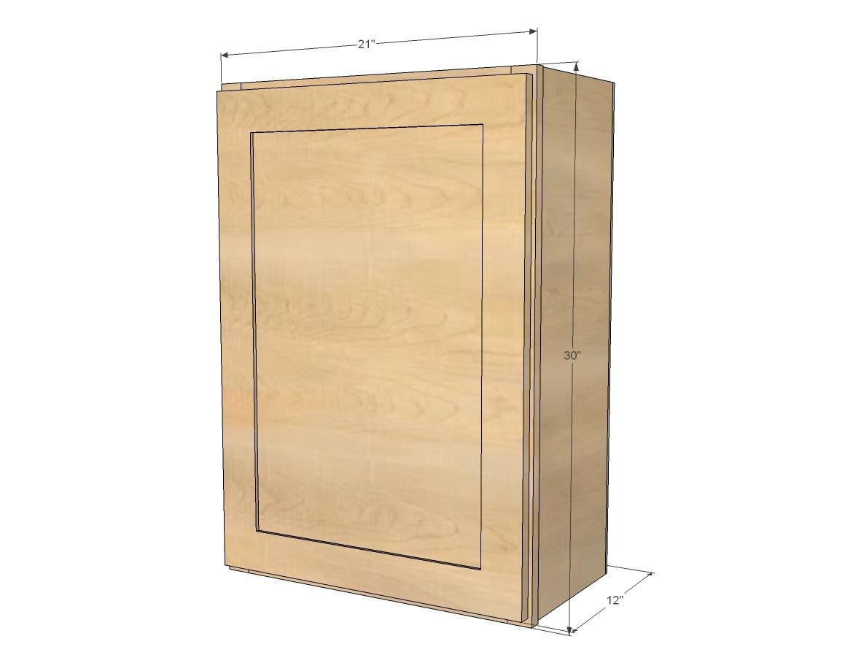 """21"""" Wall Kitchen Cabinets - Momplex Vanilla"""
