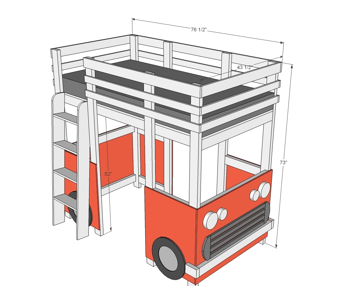 surf bus van loft bed