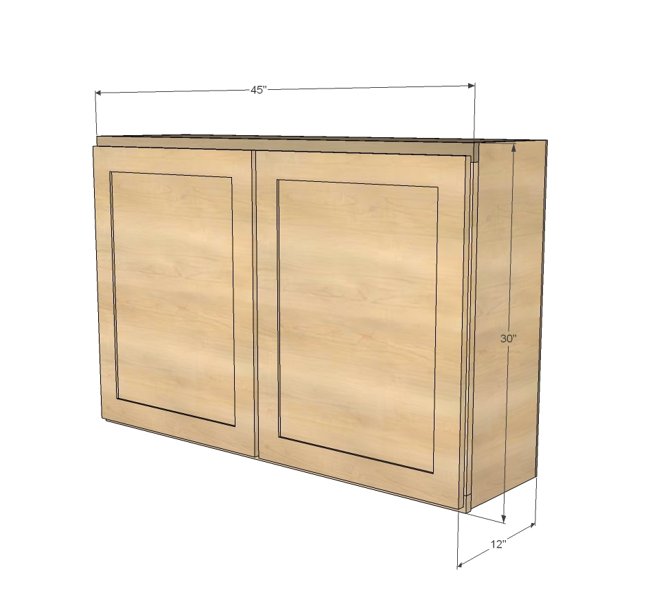 Ana White 45 Wall Kitchen Cabinet Diy Projects: cabinets plans