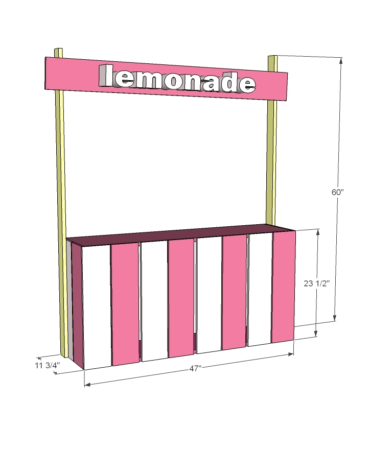 lemonade stand dimensions diagram