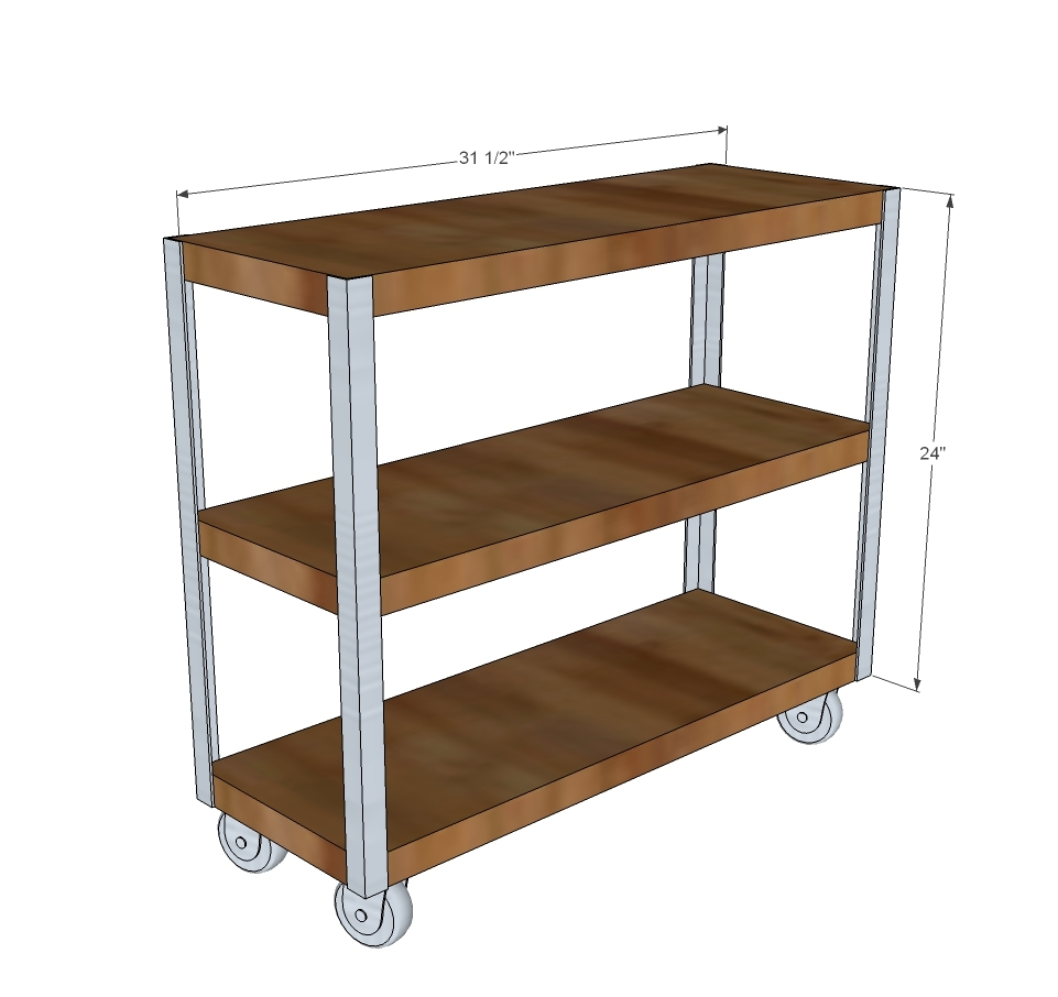 Easy kitchen cart diy the best cart for Easy entry cart plans