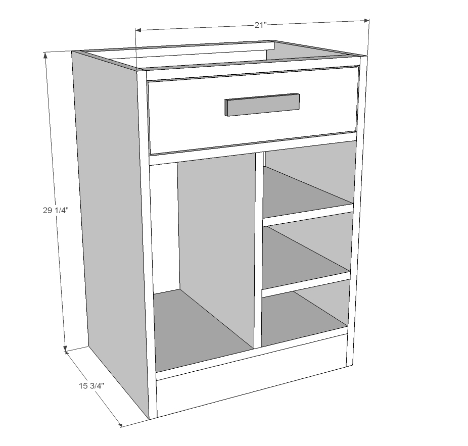 Free Base Cabinet Plans: CPU Base Cabinet For Desk Featured On HGTV