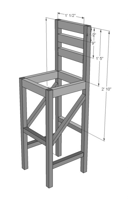 Pdf Diy Hardwood Bar Stool Plans Download Garage Storage