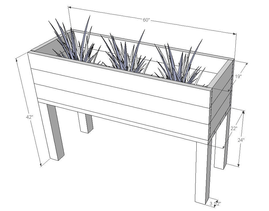 How To Build Elevated Planter Box Plans Pdf Plans