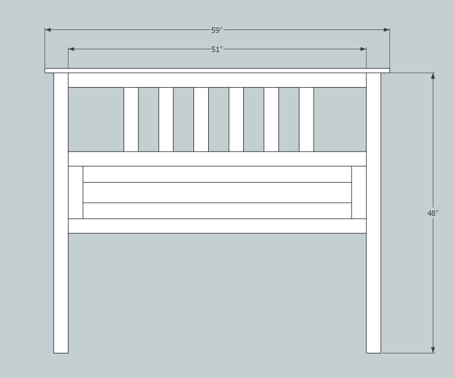 standard measurements for a full size bed Ana White | Full Size Slatted Headboard   DIY Projects standard measurements for a full size bed