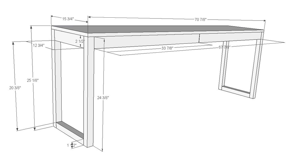 Ikea Besta Burs Inspired Desk With Drawers Ana White
