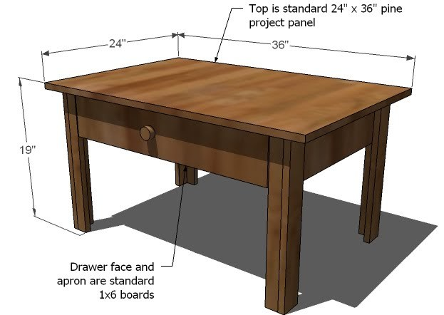 Coffee Table Dimensions Standard ana white | lucille coffee table - diy projects