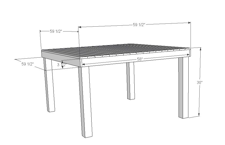 Standard Dining Room Table Size For Well