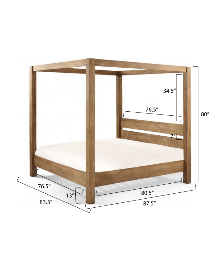 Minimalist Rustic King Canopy Bed Ana White