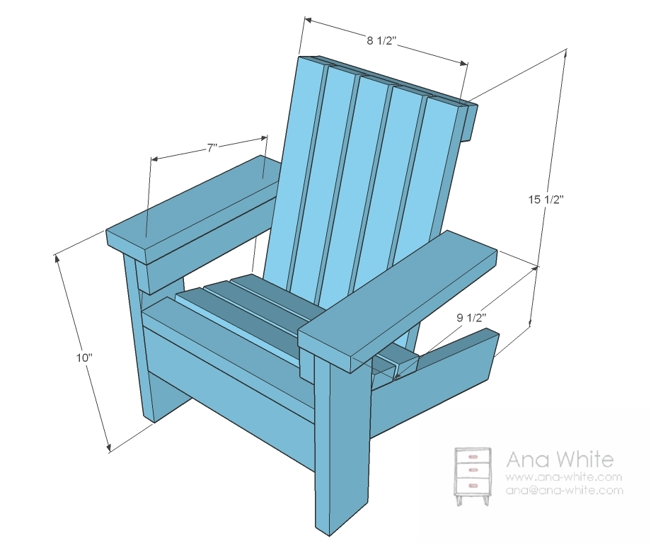 ana white fiona s doll adirondack chair diy projects