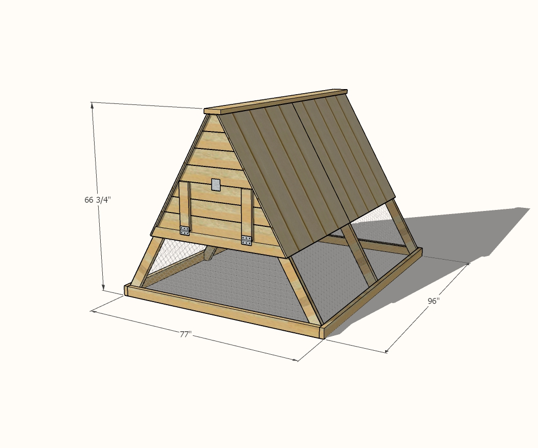 A Frame Chicken Coop Dimensions