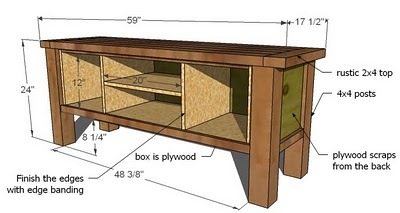 Ana White Tryde Media Console Diy Projects
