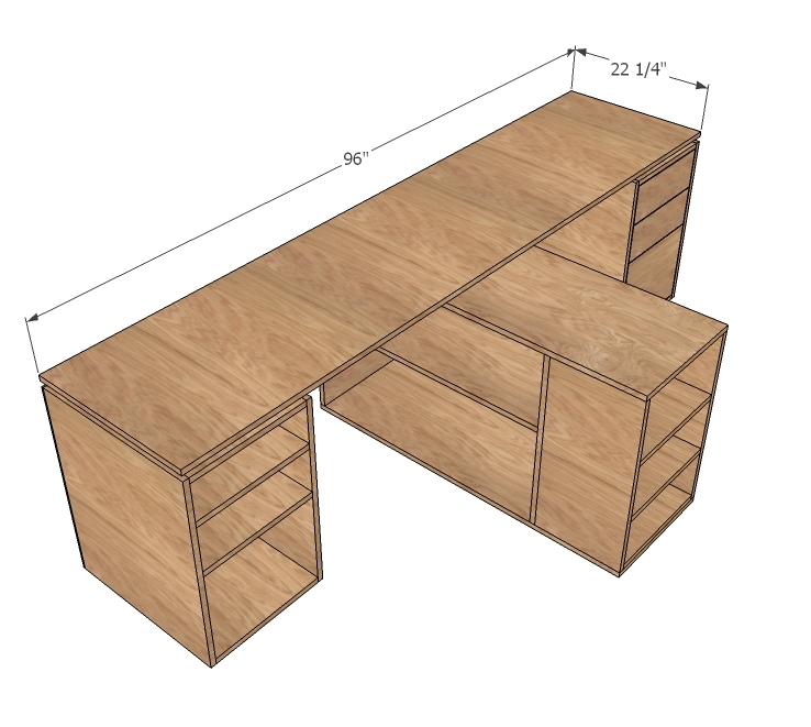 do it yourself office desk. Delighful Yourself Ana White  Eco Modular Office Desktop Made With PureBond Plywood  DIY  Projects For Do It Yourself Desk R