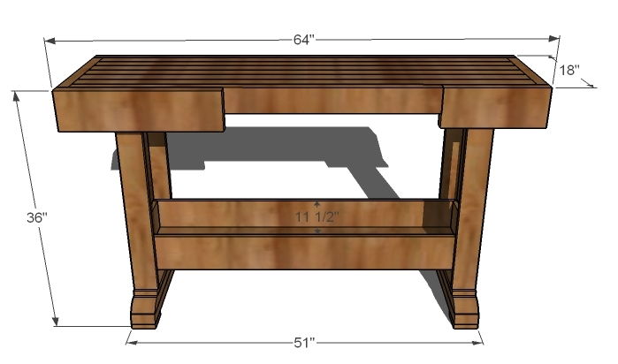 Plans for Building a Wood Workbench