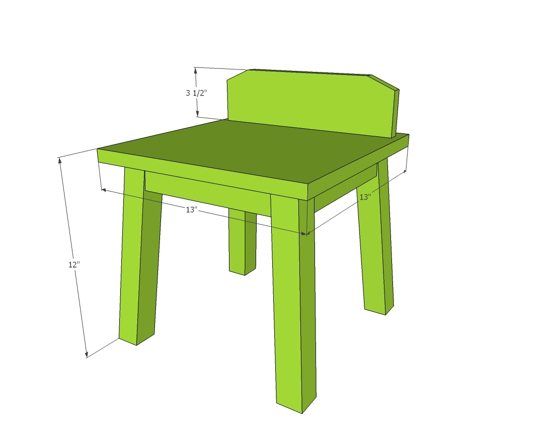 diy kids chairs dimensions