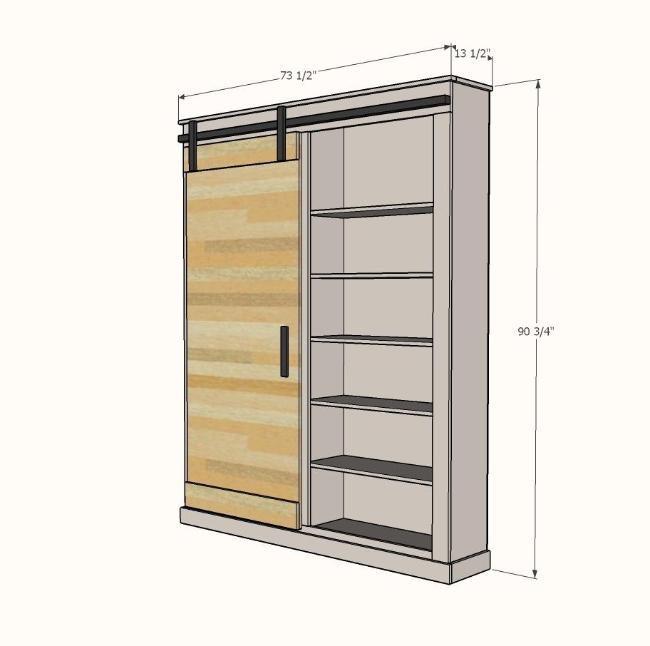 Barn Door Cabinet or Pantry | Ana White