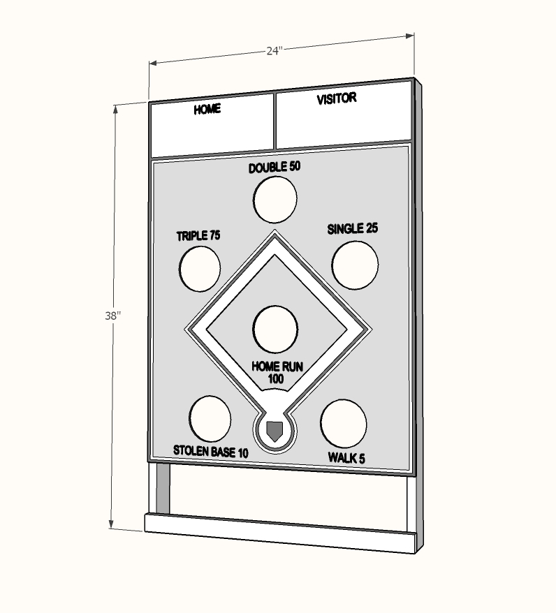 bean bag toss wall game dimensions