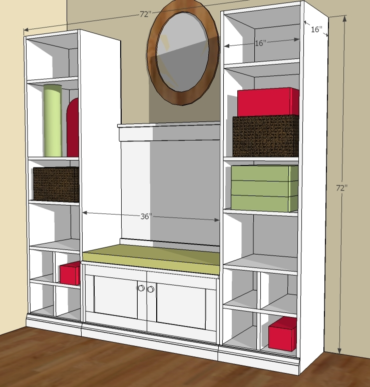 Mudroom Storage Dimensions : Ana white cutest mudroom diy projects