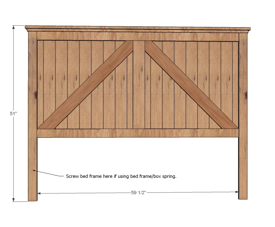 diy queen size headboard dimensions free download pdf