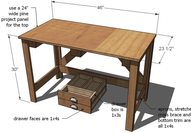 Simple Wood Desk Plans Simple wood desk plans free