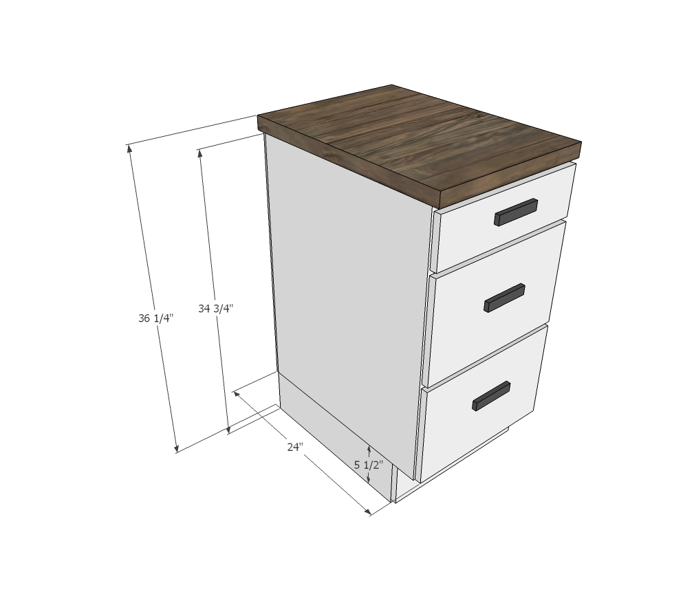 Tiny House Kitchen Cabinet Base Plan - DIY