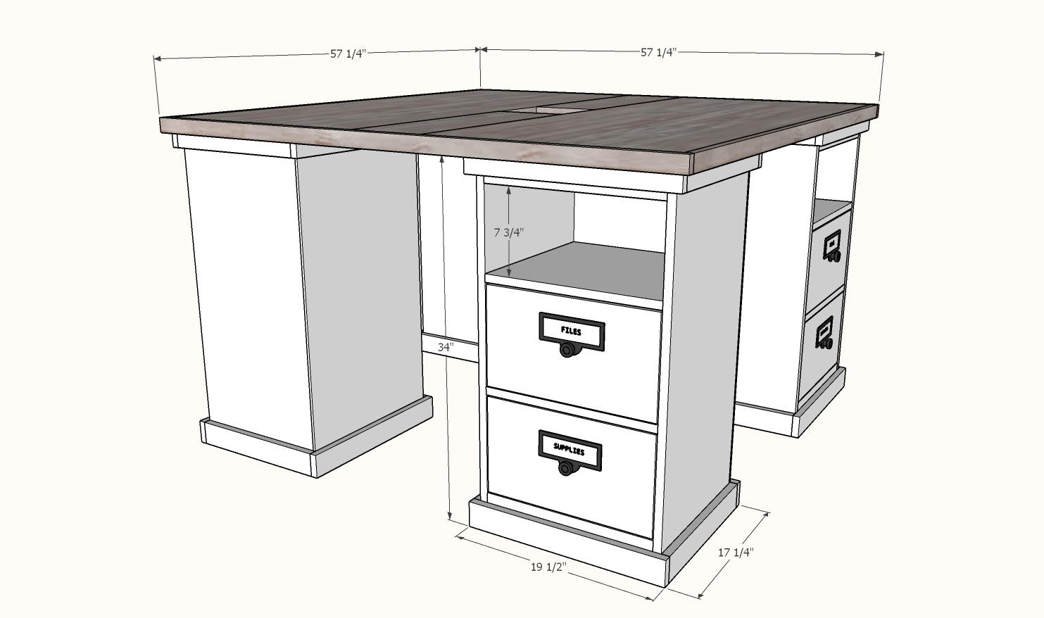 Dimensions for counter height desk pbteen mega desk
