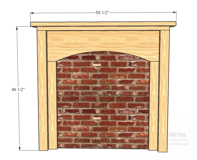Faux Fireplace Plans Submited Images