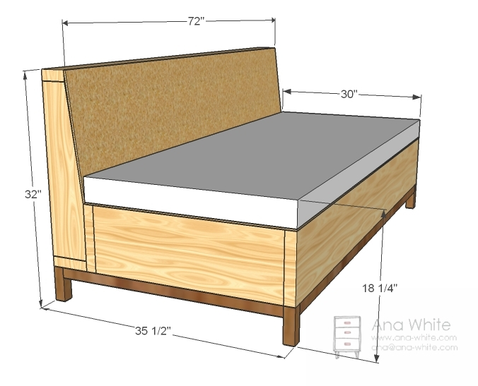 Image Gallery Sofa Plans