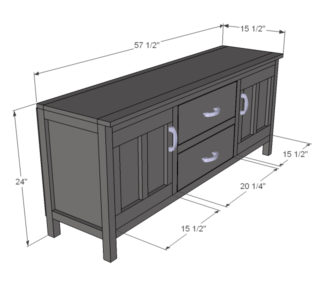 Ana white media console diy projects
